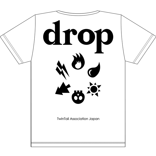 drop2周年T白x黒