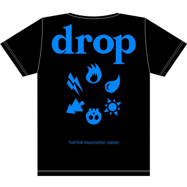 drop2周年T黒x青